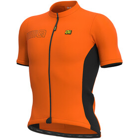 Alé Cycling Solid Color Block Jersey korte mouwen Heren, fluo orange